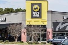Büffel-wilder Flügelrestauranteingang lizenzfreies stockbild