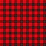 Büffelplaidmuster mit den roten und schwarzen Quadraten vektor abbildung