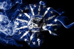 Büffelstadt-Rauchflagge, Staat New York, die Vereinigten Staaten von Amerika vektor abbildung