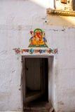 bügel Udaipur, Indien Fragmente von Wänden Ganesh stockfoto
