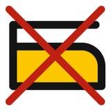 Bügeln Sie nicht Ikone lizenzfreie abbildung