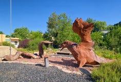 Bügeln Sie Skulpturen der Schlange und des Adlers, Merom Golan, Israel Lizenzfreie Stockfotografie