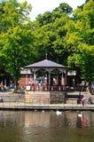 Bühne auf Riverbank, Chester Lizenzfreie Stockfotos