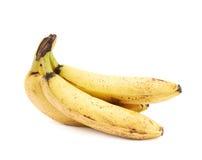 Bündel alte beschmutzte Bananen lokalisiert Stockfotografie