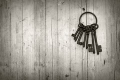 Bündel alte Schlüssel Lizenzfreie Stockfotografie