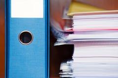 Bündel Bürodokumente Stockfotografie