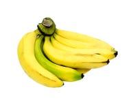 Bündel Bananen getrennt auf Weiß Stockfotos
