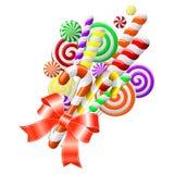 Bündel bunte Süßigkeiten Lizenzfreies Stockfoto