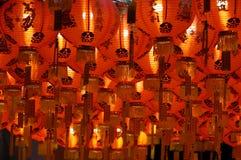 Bündel der chinesischen Laterne auf der Decke Stockfoto