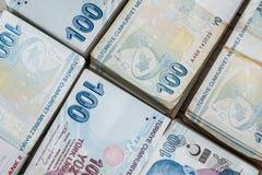 Bündel der türkischen Lira Lizenzfreies Stockfoto