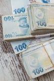 Bündel der türkischen Lira Stockbilder