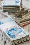 Bündel der türkischen Lira Lizenzfreie Stockfotos
