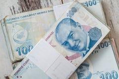 Bündel der türkischen Lira Stockbild