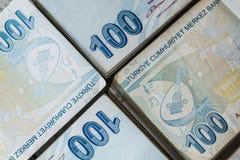 Bündel der türkischen Lira Lizenzfreie Stockfotografie