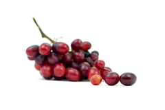 Bündel des kleinen Isolats der roten Trauben auf weißem Hintergrund Lizenzfreie Stockfotografie
