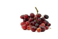 Bündel des kleinen Isolats der roten Trauben auf weißem Hintergrund Stockfotos