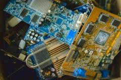 Bündel des Mikroprozessors, Chip stockfotografie