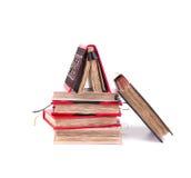 Bündel des Tagebuchs mit Weinleseabdeckung Stockfotos