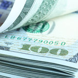 Bündel Dollar Lizenzfreies Stockfoto