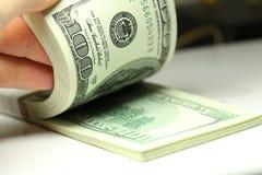 Bündel Dollar Lizenzfreie Stockfotos