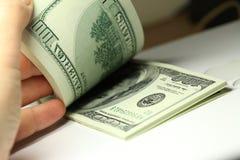 Bündel Dollar Stockfoto