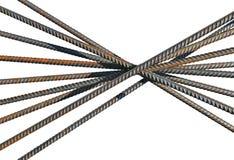 Bündel einiger Verstärkungsstangen lokalisiert Stockbilder