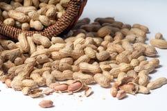Bündel Erdnüsse Stockfoto