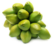Bündel frische grüne Kokosnüsse Lizenzfreies Stockfoto
