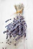 Bündel getrocknete Lavendelblumen Stockfotos