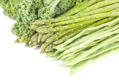 Bündel grünes Gemüse stockfoto