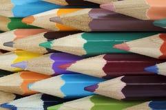 Bündel mehrfarbige Bleistifte Stockfotografie