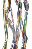 Bündel Netzkabel mit Kabelbindern lizenzfreies stockfoto