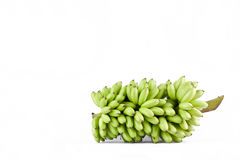 Bündel rohe Eibananen auf weißer Hintergrund dem gesunden Fruchtlebensmittel Pisang Mas Banana lokalisiert Lizenzfreie Stockfotos