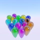 Bündel transparente Ballone stockbild