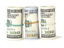 Bündel US 100 Dollar Banknoten Stockbild