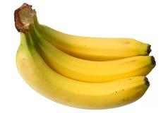 Bündel von 3 Bananen. Stockfoto