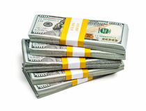 Bündel von 100 US-Dollars Ausgabenbanknoten 2013 Lizenzfreie Stockbilder