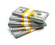 Bündel von 100 US-Dollars Ausgabenbanknoten 2013 Lizenzfreie Stockfotos