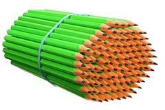Bündelbleistifte gebunden mit einem elastischen Band Stockfotografie