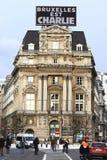Bürger, der in Brüssel am Sonntag, den 11. Januar 2015 geht Stockfotos