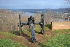 Bürgerkrieg-Kanone Stockbild