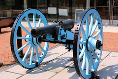 Bürgerkrieg-Kanone Stockfotos