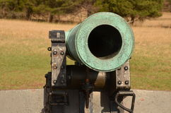 Bürgerkrieg-Kanone, NATIONALER SCHLACHTFELD-PARK VIRGINIA MANASSAS, am 15. März 2016 Stockbild