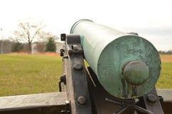 Bürgerkrieg-Kanone, NATIONALER SCHLACHTFELD-PARK VIRGINIA MANASSAS, am 15. März 2016 Lizenzfreie Stockfotos