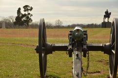 Bürgerkrieg-Kanone, NATIONALER SCHLACHTFELD-PARK VIRGINIA MANASSAS, am 15. März 2016 Stockbilder