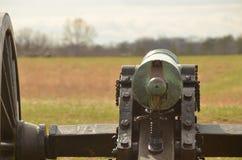 Bürgerkrieg-Kanone, NATIONALER SCHLACHTFELD-PARK VIRGINIA MANASSAS, am 15. März 2016 Stockfotos