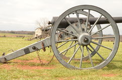 Bürgerkrieg-Kanone, NATIONALER SCHLACHTFELD-PARK VIRGINIA MANASSAS, am 15. März 2016 Lizenzfreie Stockfotografie
