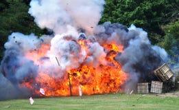 Bürgerkrieg-Wiederinkraftsetzung - Explosion Lizenzfreies Stockfoto