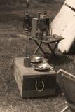 Bürgerkrieg-Wiederinkraftsetzungs-Lager-Installation lizenzfreies stockfoto