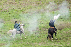 Bürgerkriegwiederinkraftsetzung lizenzfreie stockfotos